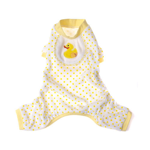 Pooch Outfitters Adorable Duck Cotton Four Legged Dog Pajamas