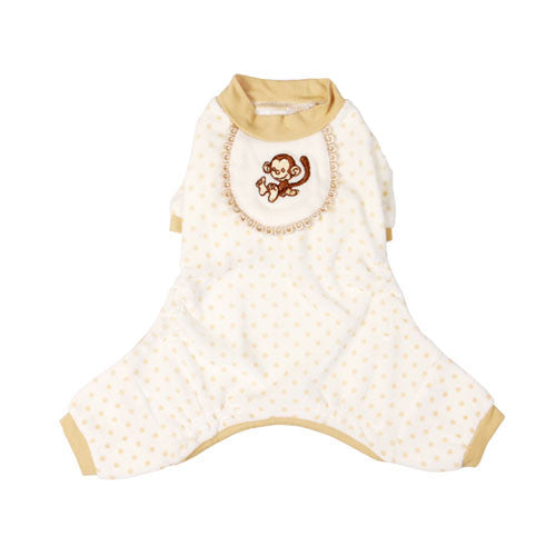 Pooch Outfitters Adorable Monkey Cotton Four Legged Dog Pajamas