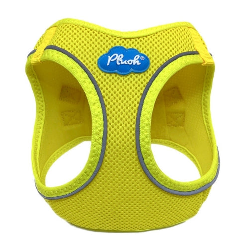 Plush Step In Air Mesh Vest Dog Harness — Blazing Yellow