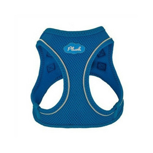 Plush Step In Air Mesh Vest Dog Harness — Lapis Blue