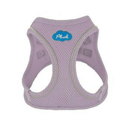 Plush Step In Air Mesh Vest Dog Harness — Lavender