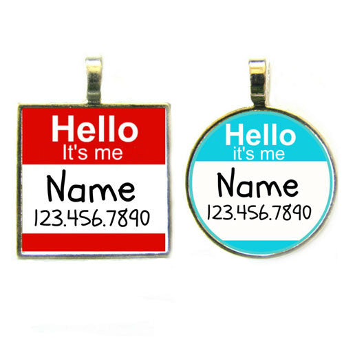 Sofa City Sweethearts Hello My Name Is Dog ID Tag