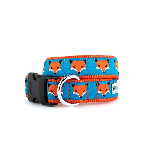 The Worthy Dog Fox Ribbon Nylon Webbing Dog Collar