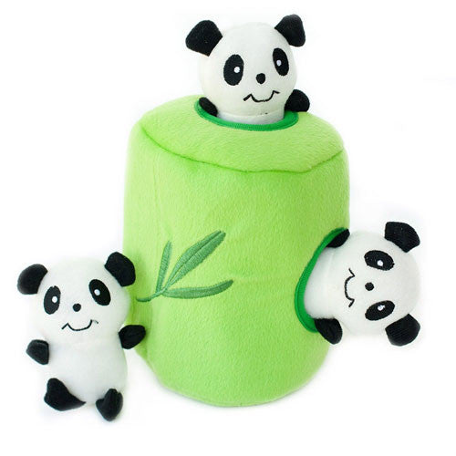 Zippy Paws Panda n' Bamboo Burrow Interactive Plush Puzzle Dog Toy