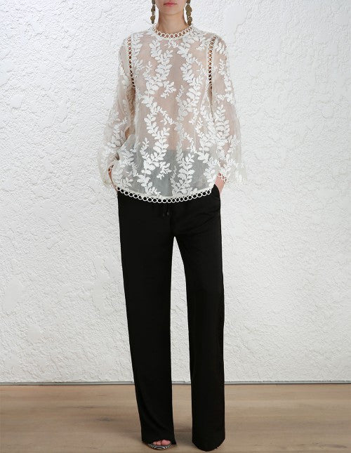 Zimmermann Winsome Vine Blouse Pearl // PREORDER - Call Me The Breeze - 2