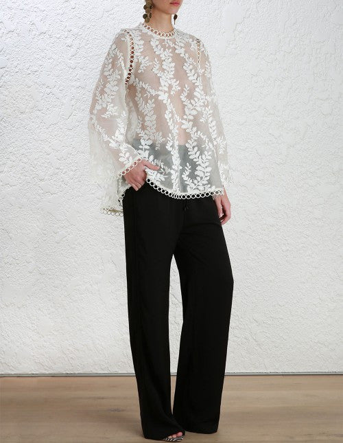 Zimmermann Winsome Vine Blouse Pearl // PREORDER - Call Me The Breeze - 3