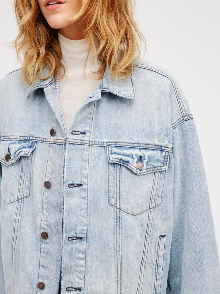 Free People Denim Trucker Jacket