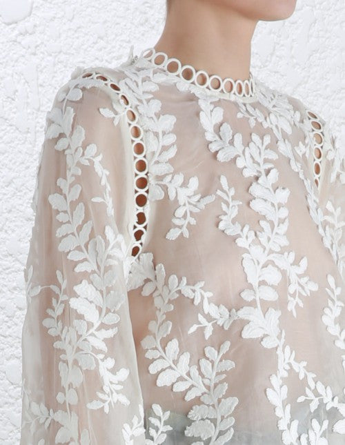 Zimmermann Winsome Vine Blouse Pearl // PREORDER - Call Me The Breeze - 5