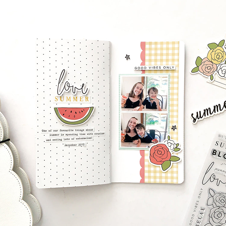 Traveler's Notebook Spread by Mandy Melville for Felicity Jane