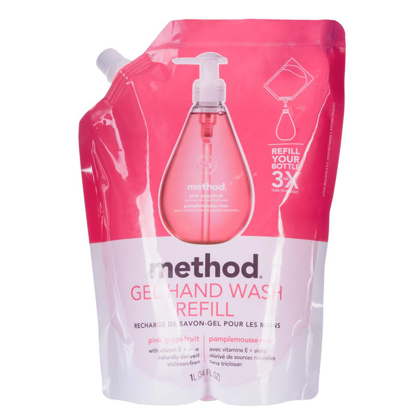 gel hand wash refill 1L - pink grapefruit