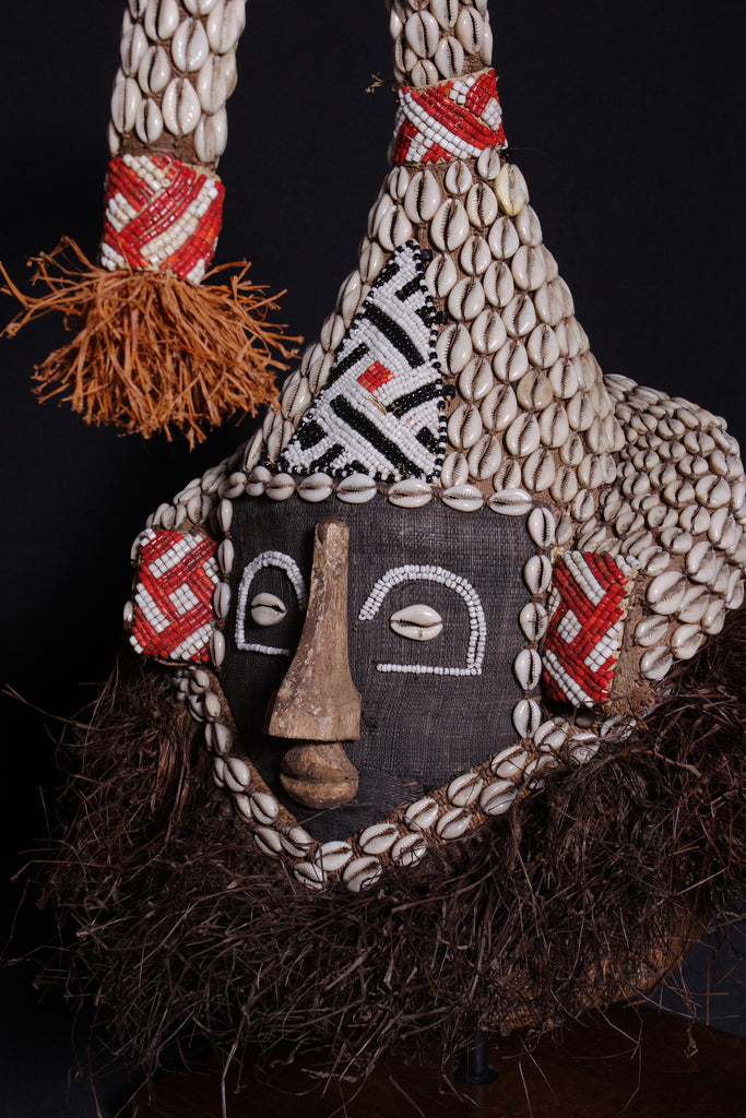 African Kuba King Mukenge Helmet Mask Congo DRC - Cultures International From Africa To Your Home