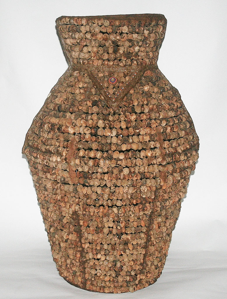 "African Tribal Vase Tebvu Mulapfa Standing Pot Venda/Lemba People South Africa 35""H X 26""W X 64""C - Cultures International From Africa To Your Home"