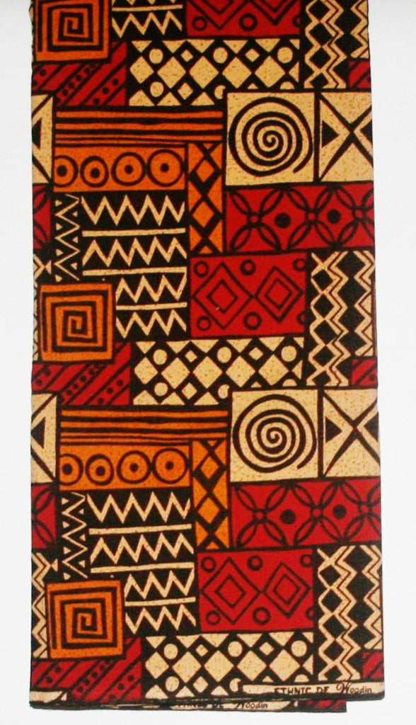 African Fabric 6 Yards Ethnic De Woodin Vlisco Classic Geometric - Cultures International From Africa To Your Home