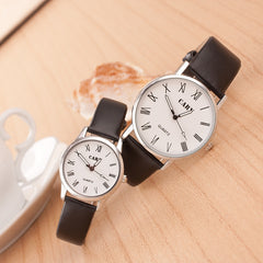 Roman Number Couple Leather Watch - Oh Yours Fashion - 5