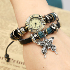 Sweet Butterfly Leather Bracelet Watch - Oh Yours Fashion - 3