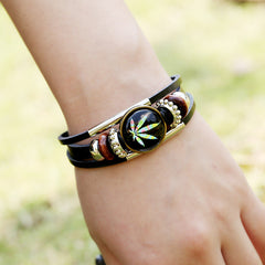 Retro Time Gem Leaves Bracelet - Oh Yours Fashion - 2