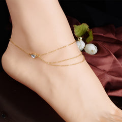 Hot Style Crytal Single Anklet - Oh Yours Fashion - 2
