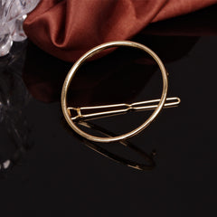 Simple Geometric Metal Ring Hair Clips - Oh Yours Fashion - 2