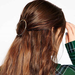 Simple Geometric Metal Ring Hair Clips - Oh Yours Fashion - 1