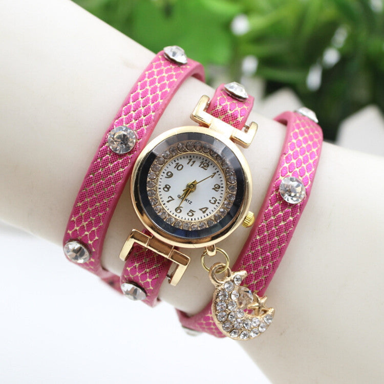 Hot Style Crystal Moon Female Watch - Oh Yours Fashion - 1