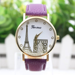 Building Design Print Leather Watch - Oh Yours Fashion - 3