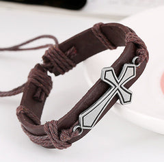 Personality Cross Woven Bracelet - Oh Yours Fashion - 3
