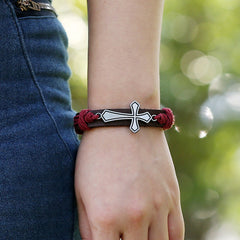Personality Cross Woven Bracelet - Oh Yours Fashion - 5