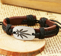 Retro Carving Leaves Woven Bracelet - Oh Yours Fashion - 4