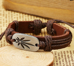 Retro Carving Leaves Woven Bracelet - Oh Yours Fashion - 5