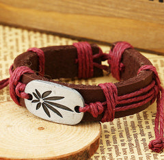 Retro Carving Leaves Woven Bracelet - Oh Yours Fashion - 2