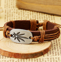 Retro Carving Leaves Woven Bracelet - Oh Yours Fashion - 6