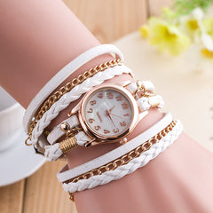 Bright Color Multilayer Woven Watch - Oh Yours Fashion - 1