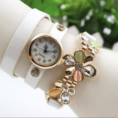 Bright Skin Three Flower Watch - Oh Yours Fashion - 7
