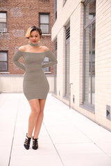 Sexy Off-Shoulder Bodycon Short Club Dress - Oh Yours Fashion - 11