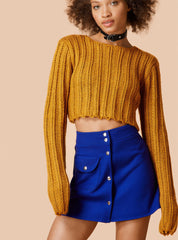 Sexy Long Sleeve Ribbed Crop Top Sweater - Oh Yours Fashion - 7