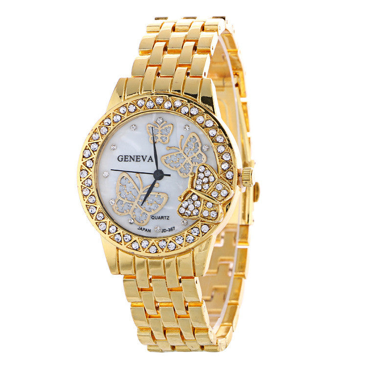 Fashion Butterfly Crystal Alloy Watch - Oh Yours Fashion - 1
