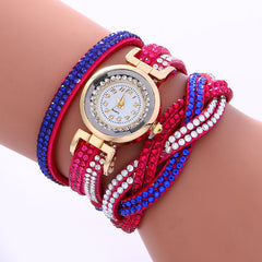 Double Color Twist Colorful Crystal Watch - Oh Yours Fashion - 5