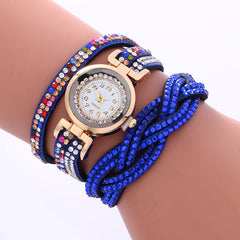 Double Color Twist Colorful Crystal Watch - Oh Yours Fashion - 8
