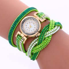 Double Color Twist Colorful Crystal Watch - Oh Yours Fashion - 2
