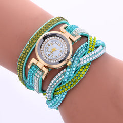 Double Color Twist Colorful Crystal Watch - Oh Yours Fashion - 10