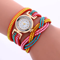 Double Color Twist Colorful Crystal Watch - Oh Yours Fashion - 7