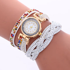 Double Color Twist Colorful Crystal Watch - Oh Yours Fashion - 1