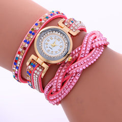 Double Color Twist Colorful Crystal Watch - Oh Yours Fashion - 9