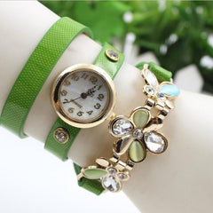 Bright Skin Three Flower Watch - Oh Yours Fashion - 4