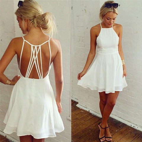 Backless Loose Swing Club Mini Cocktail Dress