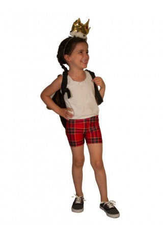 Red Plaid Kids Shorts