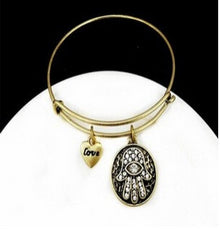 Hamsa Love Golden Black Hand