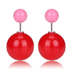 Gum Tee Mise en Style Tribal Earrings - Jelly Red & Jelly Baby Pink