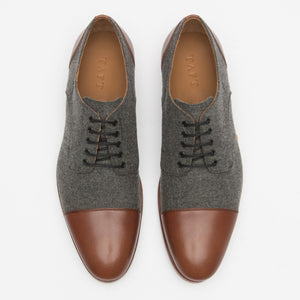 Jack Shoe Grey - Brown Top
