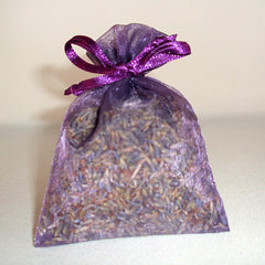Fields of Lavender Handmade Sachet - with lavender buds